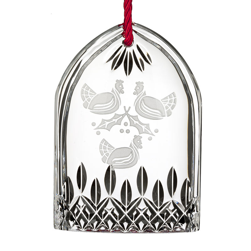 Waterford Crystal Lismore Three French Hens Ornament ...