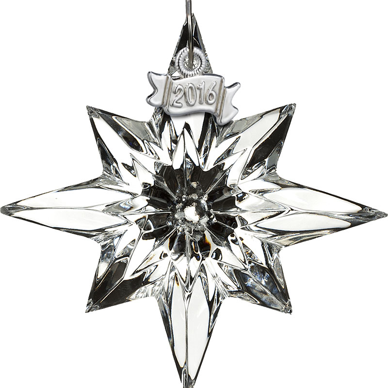 Waterford Crystal Mini Christmas Star Ornament 2016 | Silver ...