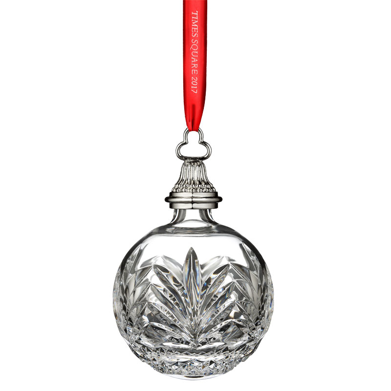 2017 times square ball new years waterford crystal christmas tree decoration times square - Crystal Christmas Decorations