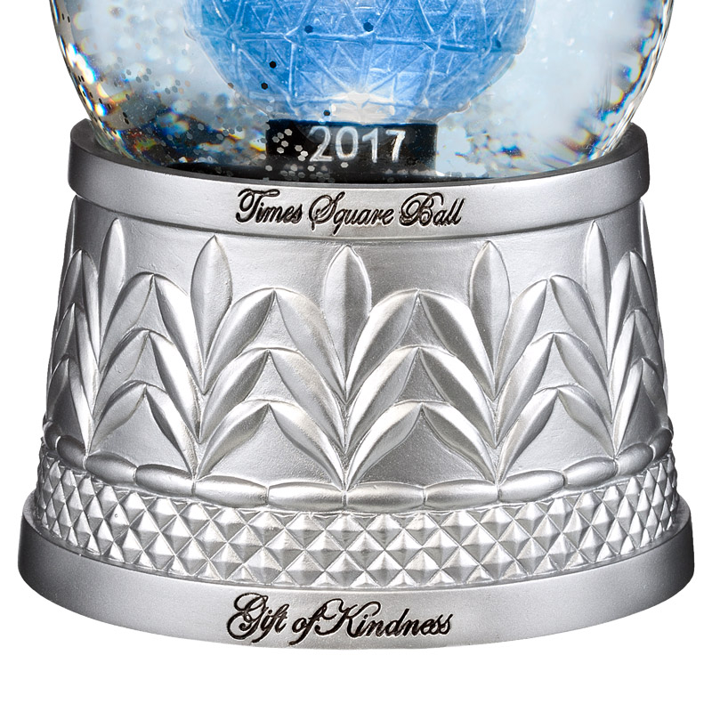 Waterford crystal times square ball snow globe silver - Waterford crystal swimming pool times ...