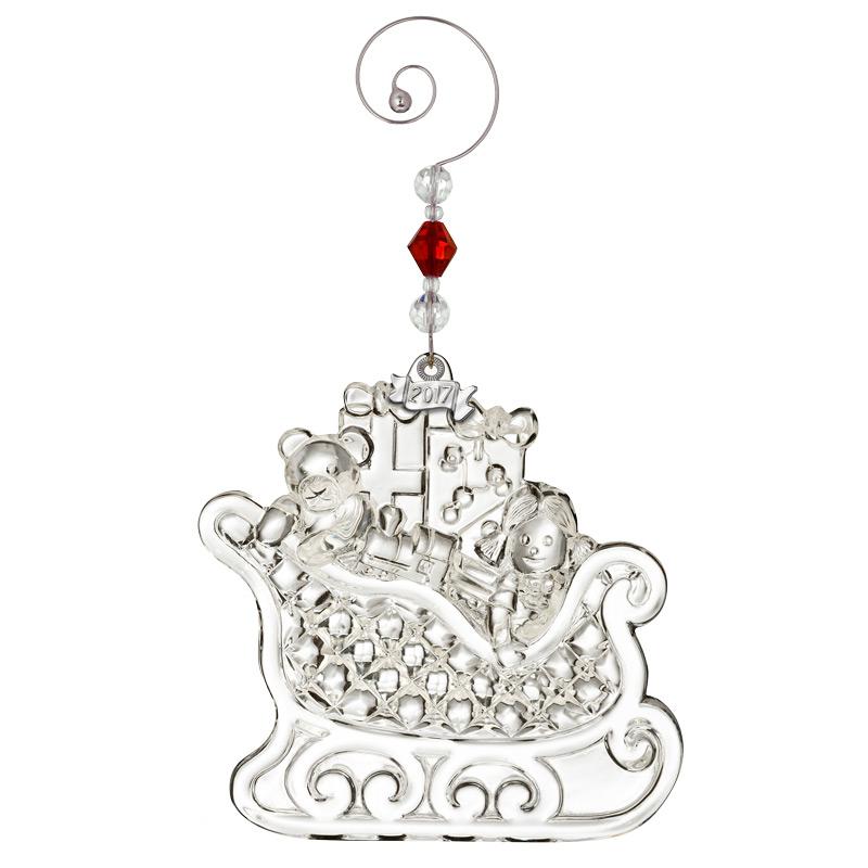Waterford Crystal Christmas Wonders Sleigh Ornament 2017 | Silver ...