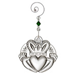 Waterford Crystal Claddagh 2017 Ornament | Waterford Crystal Christmas Ornament | Wedding Ornament