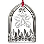 Waterford Lismore Five Golden Rings Crystal Christmas Ornament