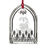 Waterford Lismore Seven Swans a Swimming Crystal Christmas Ornament