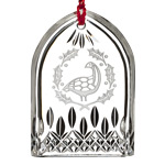 Waterford Lismore Six Geese a Laying Crystal Christmas Ornament