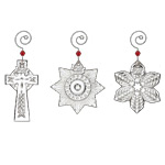 2017 Waterford Mini Ornament Set, Christmas Ornament include Snowflake, Star, Cross