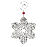 2017 Waterford Mini Snowflake Crystal Christmas Ornament, Snowflake decoration