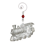 2017 Waterford Train Engine Crystal Christmas Ornament