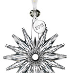 2018 Snow Crystal Pierced Ornament | Waterford Christmas Tree Decoration | Snowflake decoration