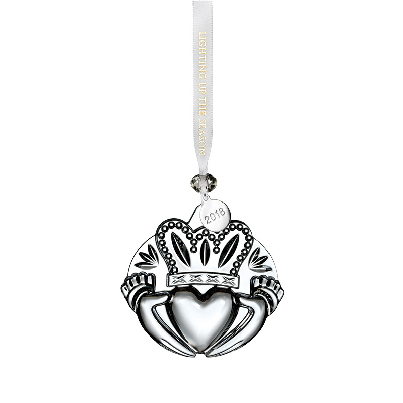 Waterford Crystal Claddagh Ornament 2018 Christmas Ornament