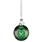 2018 Waterford Emerald Ball Crystal Christmas Ornament