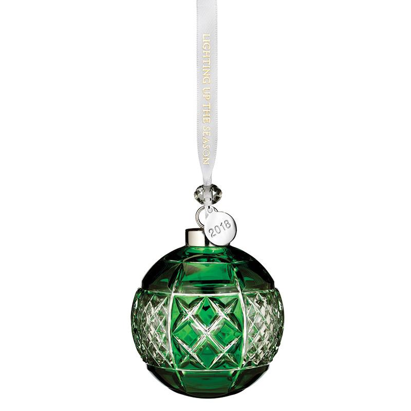 Christmas Ball Ornaments.Waterford Crystal Emerald Ball 2018crystal Christmas Ornament By Waterford Crystal
