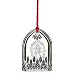 Waterford Lismore Ten Lords a Leaping Crystal Christmas Ornament