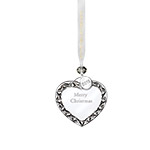 2018 Waterford Merry Christmas Heart Ornament