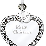 2018 Merry Christmas Heart | Waterford Christmas Tree Decoration | Cross Ornament