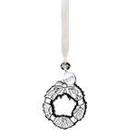 2018 Waterford Mini Wreath Crystal Christmas Ornament