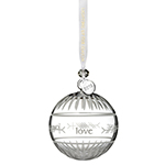 Waterford Crystal Ogham Love Ball 2018 Ornament | Waterford Crystal Christmas Ornament | Religious Ornament