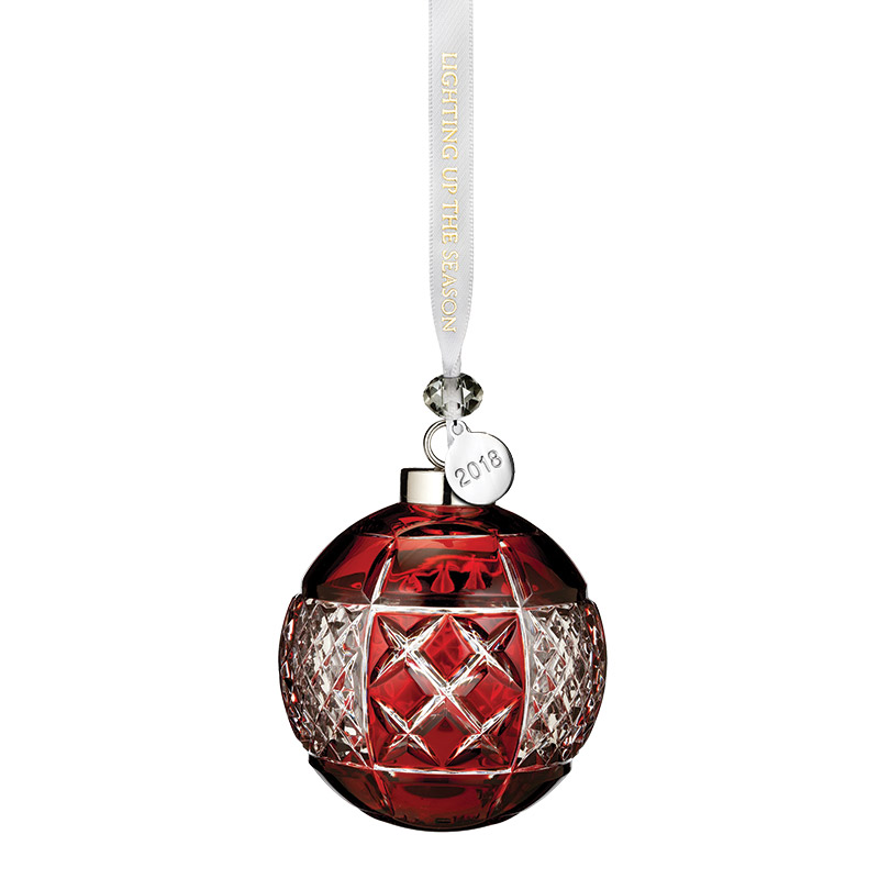 2018 Ruby Cased Ball | Waterford Crystal Christmas Tree Decoration | Christmas Ball