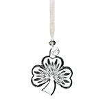 2018 Waterford Shamrock, Clear Crystal Christmas Ornament