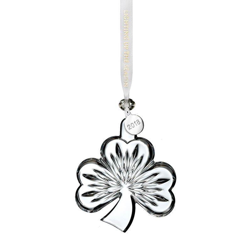 Waterford Crystal Shamrock Ornament, Clear 2018 ...