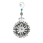 2018 Waterford Snowflake Wishes, Happiness Crystal Christmas Ornament