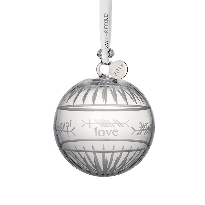 Crystal Christmas Ornaments.Waterford Crystal Ogham Love Ball 2019crystal Christmas Ornament By Waterford Crystal