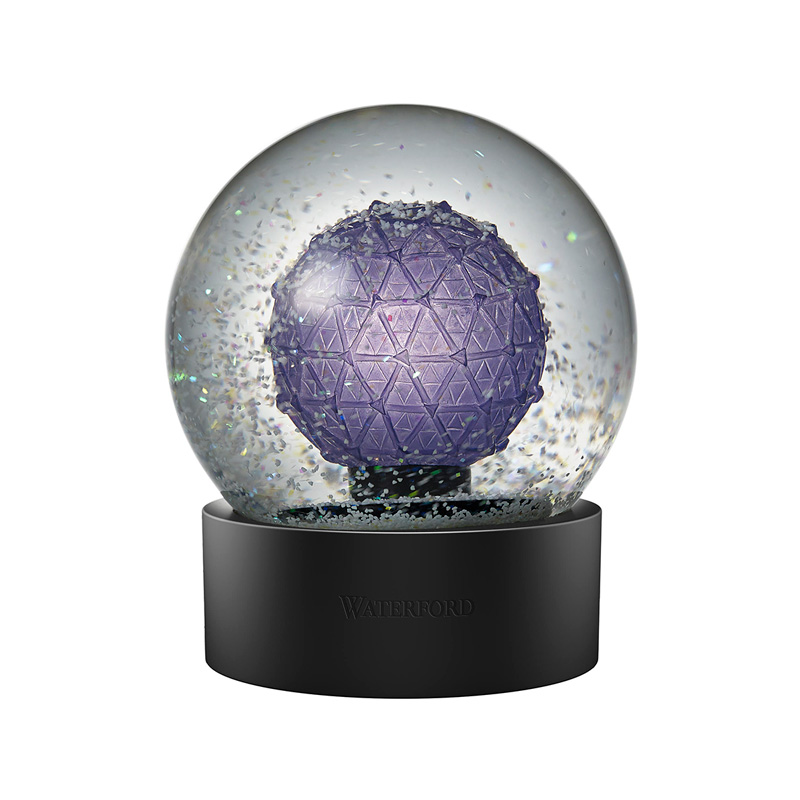 2020 Times Square Snow Globe, New Year's | Waterford Crystal Christmas Tree Decoration | Times Square Ball Snow Globe