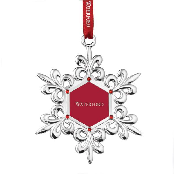2015 waterford snowflake silver christmas ornament