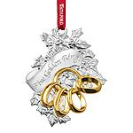2015 Waterford Twelve Days of Christmas, 5 Golden Rings Silver Christmas Ornament