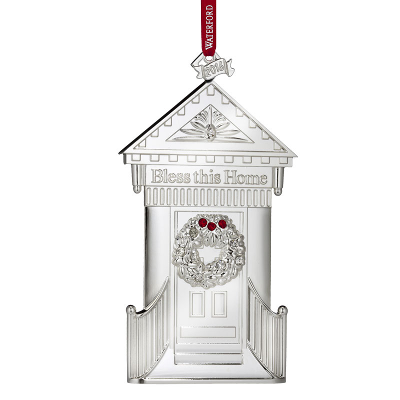 Home pictures on ornaments.