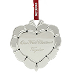 2016 Waterford Our First Christmas Together Silver Decoration