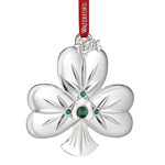2017 Waterford Shamrock Irish Ornament, Silver Christmas Ornament