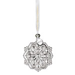 2018 Waterford Annual Snowflake Silver Christmas Ornament