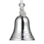 2019 Silver Bell Ornament | Waterford  Christmas Tree Decoration | Christmas Bell