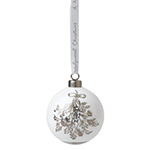 Wedgwood Holly Christmas Ornament in Fine Bone China