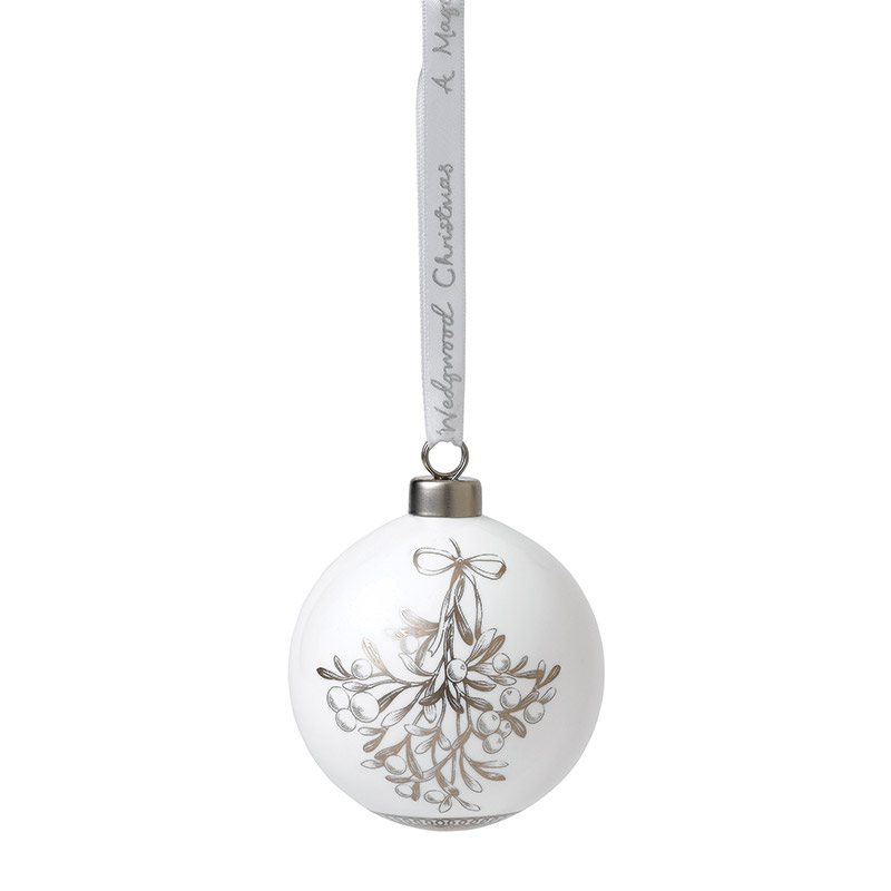 2018 Mistletoe Ornament Christmas Ornament | Wedgwood Mistletoe Decoration | Nativity Scene