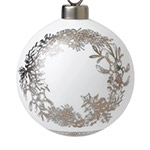 2018 Wreath Ornament Christmas Ornament | Wedgwood Wreath Decoration | Nativity Scene