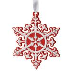 2015 Neoclassical Snowflake, red Porcelain Ornament