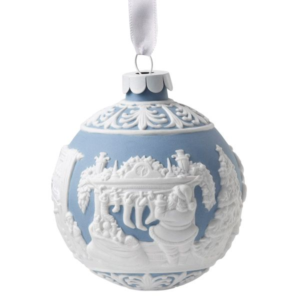 2015 Wedgwood Night Before Christmas Ball Porcelain Christmas Ornament - Wedgwood Night Before Christmas Porcelain Christmas Ornament