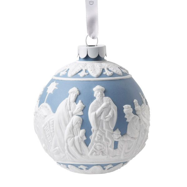 Wedgwood nativity porcelain christmas ornament