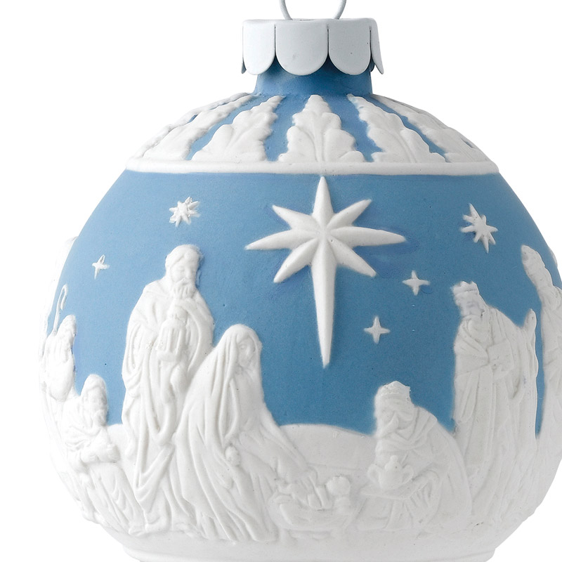 Nativity At Night Glass Ball Religious Christmas Ornament: Wedgwood Christmas Decorations In Ireland