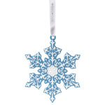 2016 Snowflake, Blue Porcelain Ornament