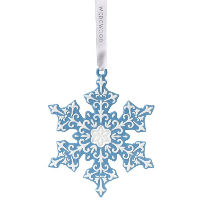 2016 blue snowflake christmas ornament wedgwood christmas tree decoration snowflake design