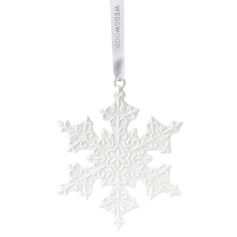 Wedgwood Christmas Ornaments.Wedgwood White Snowflakeporcelain Christmas Ornament By Wedgwood