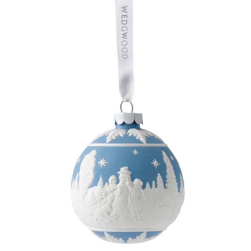 building a snowman ball christmas ornament 2017 wedgwood. Black Bedroom Furniture Sets. Home Design Ideas