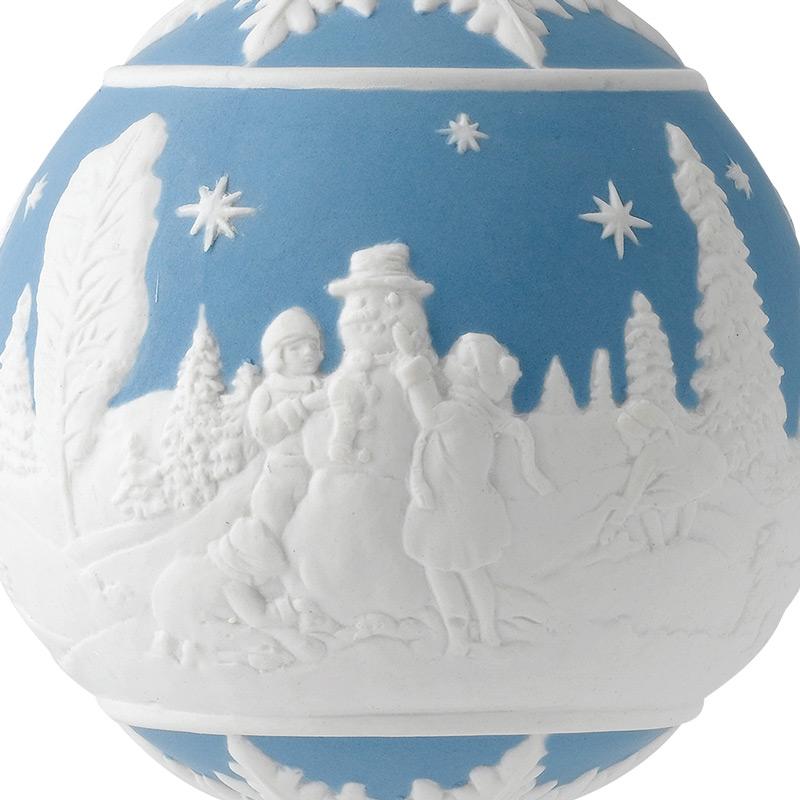 Wedgwood Christmas Ornaments.Wedgwood Building A Snowman Ball 2017porcelain Christmas Ornament By Wedgwood