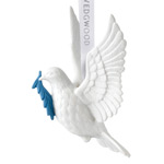 2017 Figural Dove, White Porcelain Ornament