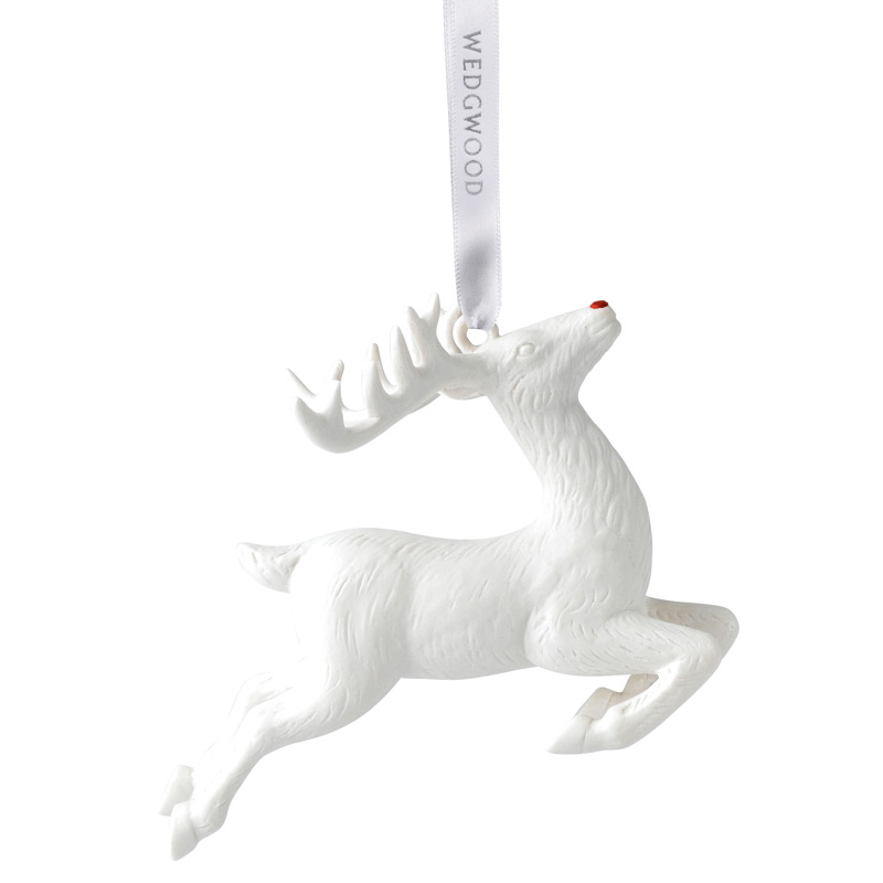2017 Figural Reindeer Christmas Ornament | Wedgwood Christmas Tree Decoration | Christmas Reindeer Design