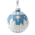 Wedgwood Nativity Ball Porccelain Christmas Ornament