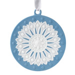 2017 Neoclassical Disk, blue Porcelain Ornament